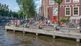 Leute in Amsterdam Stockfoto