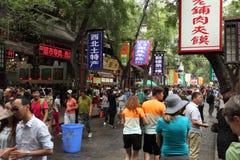 Leute am arabischen Markt von Xian Lizenzfreie Stockbilder