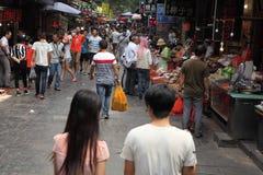 Leute am arabischen Markt von Xian Lizenzfreie Stockfotografie