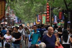 Leute am arabischen Markt von Xian Stockfotos