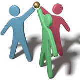 Leute arbeiten sich anschließen Handteamwork zusammen Lizenzfreies Stockfoto