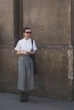 Leute außerhalb des John Richmond-Modeschaugebäudes für Milan Men Lizenzfreie Stockfotografie