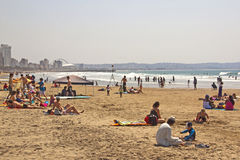 Leute auf Addington-Strand in Durban Südafrika Stockfoto