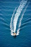 Leute auf dem Boot Stockfoto