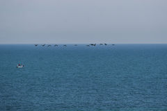 Leute auf dem Boot auf Schwarzem Meer Lizenzfreies Stockfoto