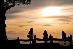 Leute auf dem Hügel Chiangmai Thailand lizenzfreie stockfotos