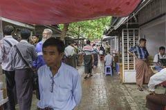 Leute auf dem Markt Stockfoto