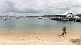 Leute auf dem Strand, Australien Stockfoto