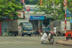 Leute auf der Straße des asiatischen Landes - Vietnam und Kambodscha Lizenzfreies Stockbild