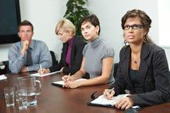 Leute auf Geschäftstraining Lizenzfreie Stockfotografie