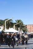 Leute auf Riva Promenade, Spalte Lizenzfreies Stockfoto