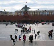 Leute auf Rotem Platz Stockbilder