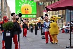 Leute auf Straße in Manhattan, NYC Lizenzfreies Stockbild