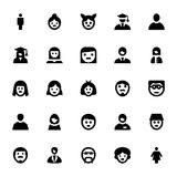 Leute-Avatara-Vektor-Ikonen 1 Lizenzfreies Stockfoto