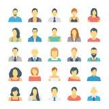 Leute-Avataras farbige Vektor-Ikonen 1 Stockbild