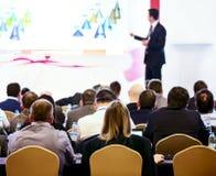 Leute bei der Konferenz Stockfotos