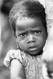 Leute in Benin, in Schwarzweiss Stockfotografie