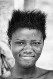 Leute in Benin, in Schwarzweiss Stockbilder