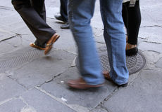 Leute in Bewegung Stockfotos