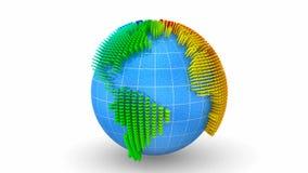Leute bilden eine Weltkarte lizenzfreie abbildung