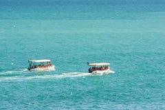 Leute-Boots-Reise auf dem Schwarzen Meer Lizenzfreie Stockfotos