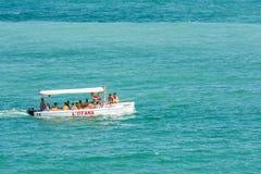 Leute-Boots-Reise auf dem Schwarzen Meer Lizenzfreies Stockfoto