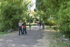 Leute am botanischen Garten stockbild