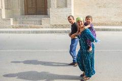 Leute in BUKHARA, USBEKISTAN Stockfoto