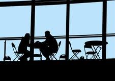 Leute in Café zwei Stockfotografie