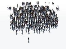 Leute-Community-Gruppe lizenzfreie abbildung