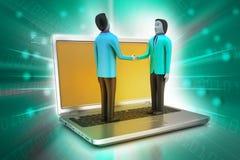 Leute 3d mit Laptop Lizenzfreies Stockbild