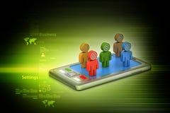 Leute 3d mit Tablet-Computer Lizenzfreie Stockfotos