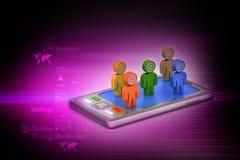 Leute 3d mit Tablet-Computer Stockfotos