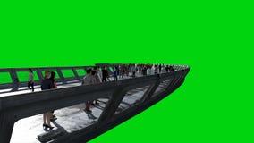Leute 3d in Sci FI-tonnel verkehr Konzept von Zukunft Gr?ner Bildschirm Wiedergabe 3d vektor abbildung