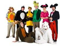 Leute in den Kostümen Lizenzfreies Stockbild