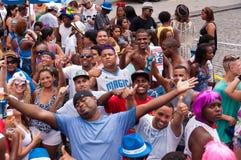 Leute in den Straßen von Rio de Janeiro während des Karnevals Lizenzfreie Stockbilder
