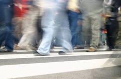 Leute in der Bewegung Lizenzfreies Stockfoto