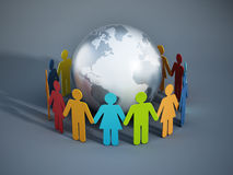 Leute der Erde vereinigt Stockbild