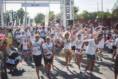 Leute an der Farbe lassen Ereignis in Mailand, Italien laufen Stockfoto
