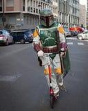 Leute der 501. Legion nehmen an der Star Wars-Parade in Mailand, Italien teil Lizenzfreie Stockbilder