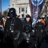 Leute der 501. Legion nehmen an der Star Wars-Parade in Mailand, Italien teil Stockbilder