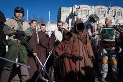Leute der 501. Legion nehmen an der Star Wars-Parade in Mailand, Italien teil Stockfoto