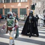 Leute der 501. Legion nehmen an der Star Wars-Parade in Mailand, Italien teil Lizenzfreies Stockbild