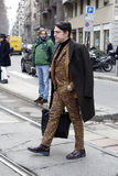 Leute an der Mailand-Modewoche Lizenzfreie Stockfotos