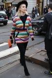 Leute an der Mailand-Modewoche Stockfotografie