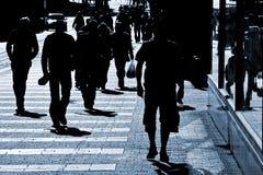 Leute an der Straße Lizenzfreies Stockbild
