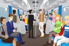 Leute in der Untergrundbahn Lizenzfreies Stockfoto
