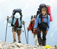 Leute in der Wanderung Lizenzfreie Stockfotos