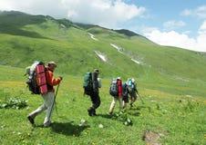 Leute in der Wanderung Stockfoto