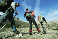 Leute in der Wanderung Lizenzfreies Stockbild